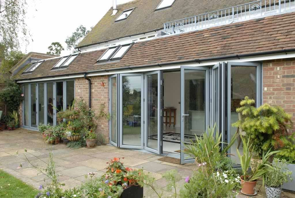 New extension with origin windows and doors.