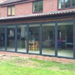 Northwest Bifolds installation of grey bifolds.