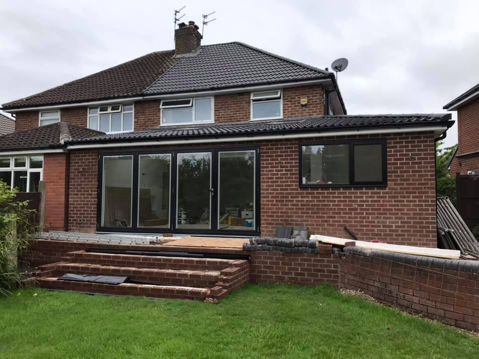 bifolding doors with integral blinds in a house