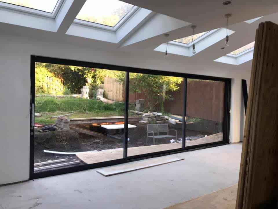 sunflex sliding doors in Liverpool house