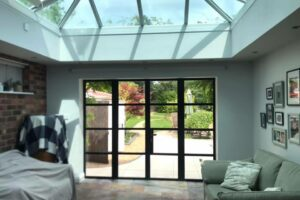 Steel look French doors in Cheadle