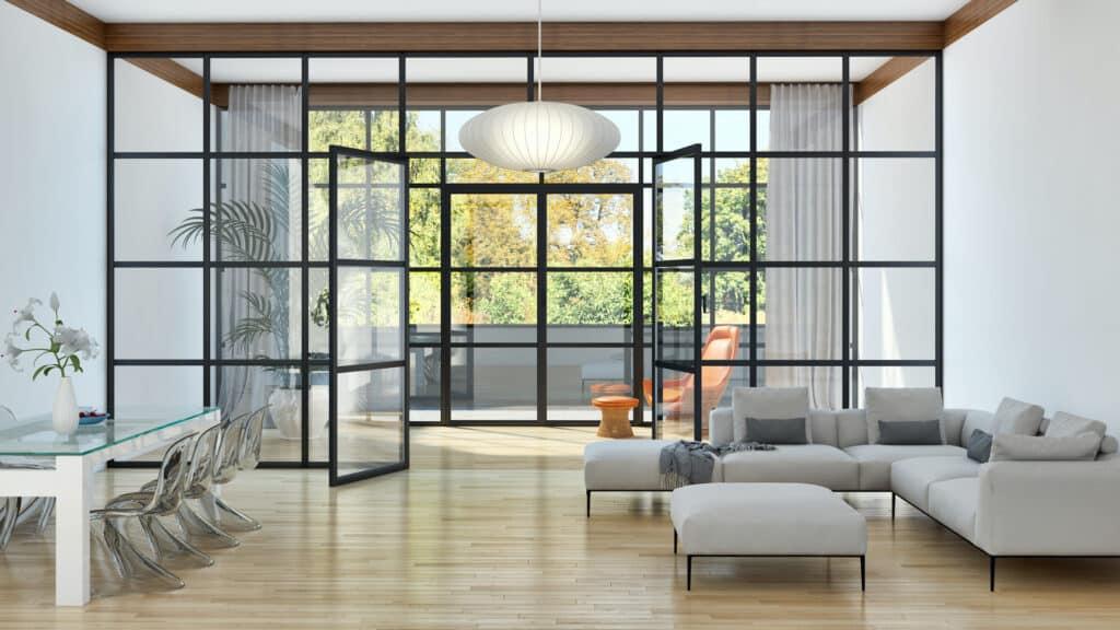 steel look doors and windows