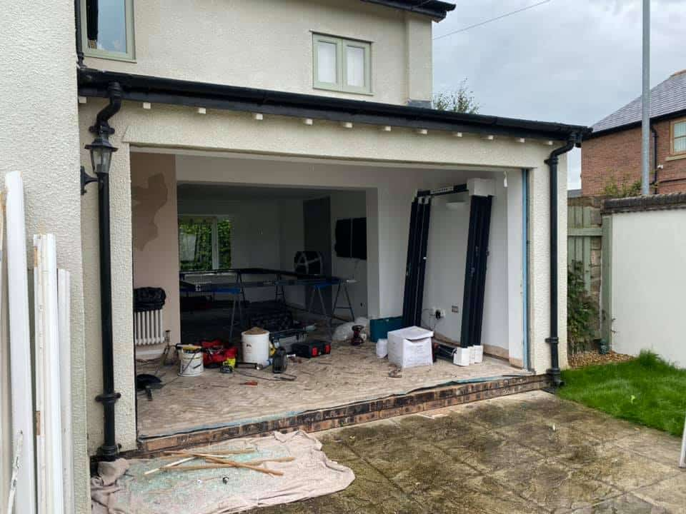 fitting bifolding doors in wrexham