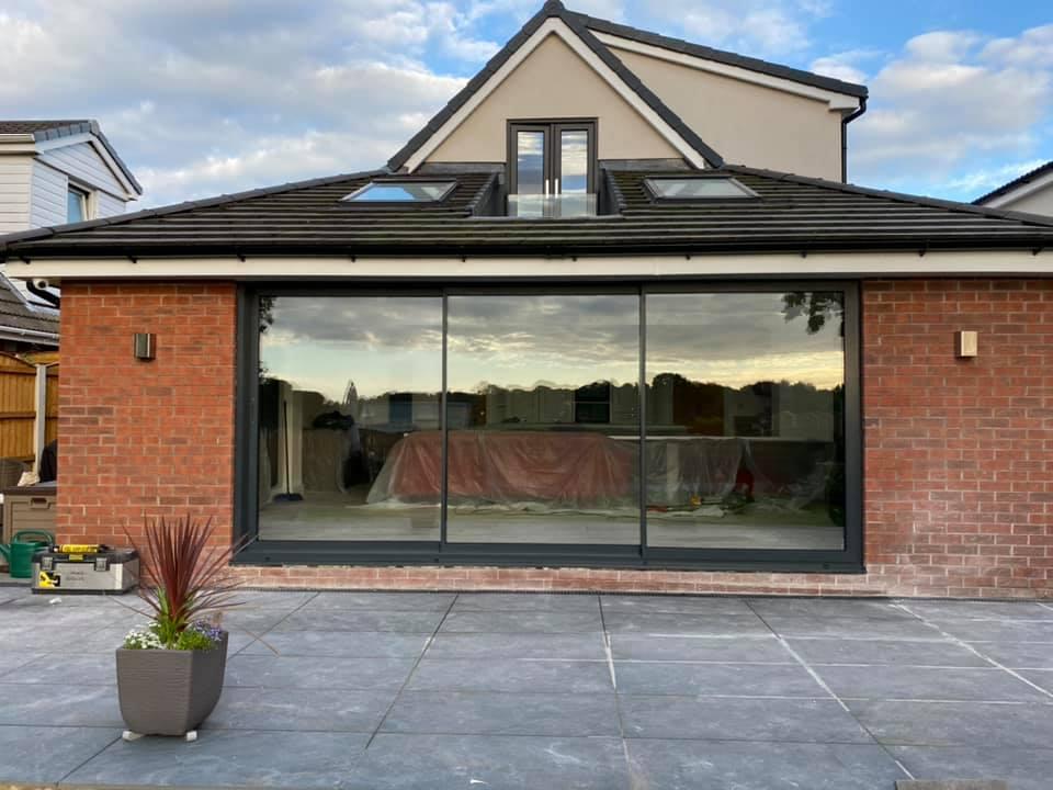 sunflex grey sliding doors in Chorley