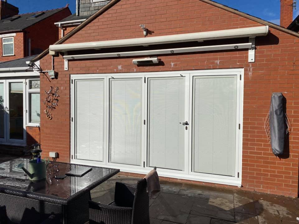 Bifolds with integral blinds in Wrexham