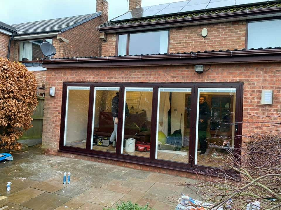 Origin Woodgrain bifolding doors in Liverpool