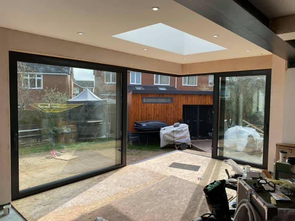 Open corner sliding doors in Northwich