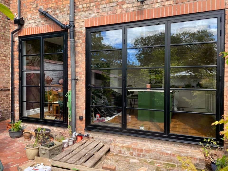steel-look Origin bifolding doors