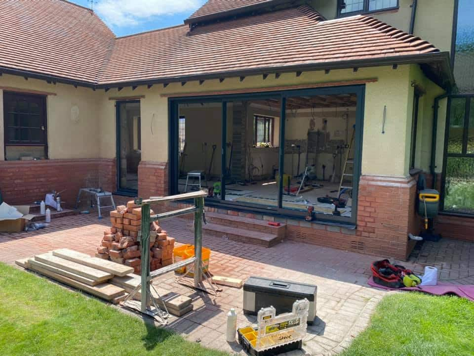 Sunflex patio doors in a liverpool house